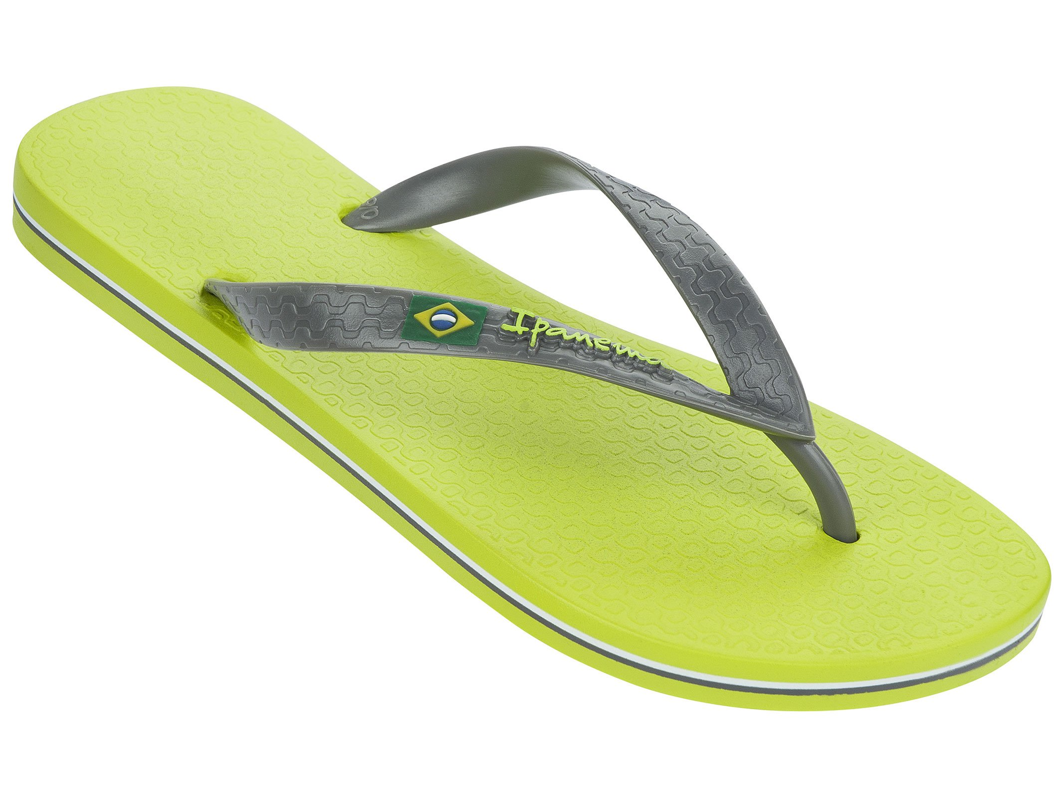 Light Green And Grey Strapped Two-coloured Ipanema Flip-flops - Classica - Green/grey
