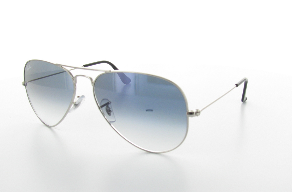 Ray-ban Sunglasses, Lenses With A Blue Gradient - Aviator Gradient Light Blue Rb3025