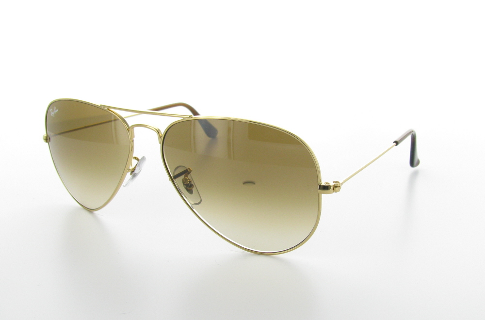 Sunglasses With Gold Frame and brown Gradient Lenses - Aviator Gradient Light Brown Rb3025